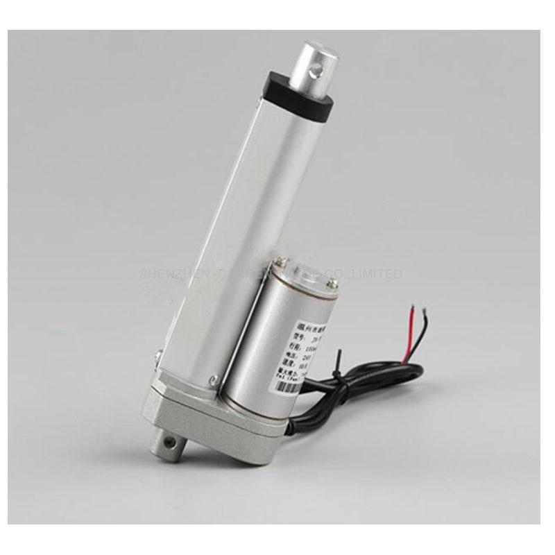 Motor de actuador lineal multifunción cc 12V 24V 36V 150mm, Mini servomotor eléctrico de carga pesada 500N