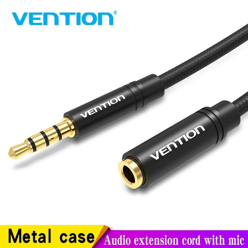 Vention Aux Cable Jack 3,5mm, Cable de extensión de Audio para Huawei P20, Conector estéreo 3,5, Cable Aux adaptador para auriculares Xiaomi Samsung