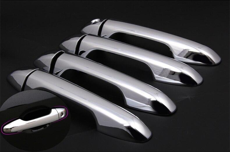 FUNDUOO para TOYOTA HIGHLANDER/KLUGER (XU50) 2014 de 2015 cromo Abs mango de la puerta de coche cubre coche accesorios