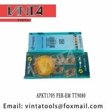 free shipping high quality APKT1705PER-EM TT9080 cnc carbide milling inserts