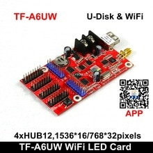 Speicial Offer LongGreat TF-A6UW WIFI and USB driver Wireless LED Display Controller, F3.75 F5.0 P10  Sign Board Card