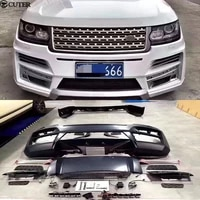 st style wide car body kit pp unpainted front bumper rear bumper for land rover range rover startech body kit