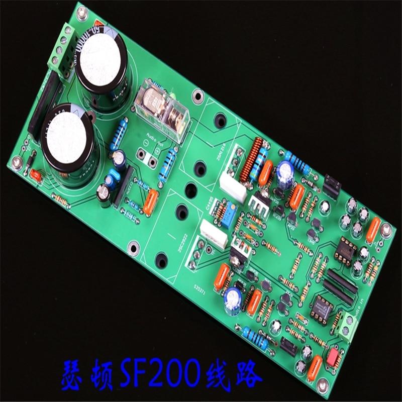 AC33v * 2 SF200 línea 2SC2922/A1216 mono 100w placa amplificadora de potencia
