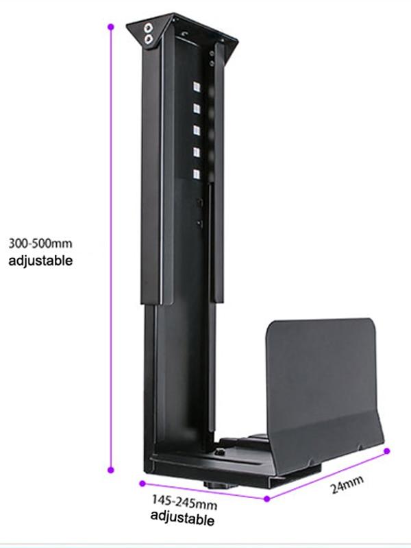 حامل عالمي للكمبيوتر الشخصي ، أسفل المكتب ، جدار وحدة المعالجة المركزية ، قابل للتعديل ، إطار رئيسي ، حامل صندوق المضيف ، GD08