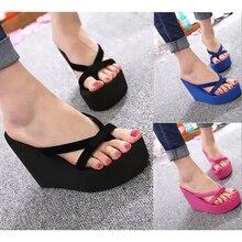 MoneRffi Frauen Casual Torridity Schuhe Keile Flops Hausschuhe Damen Heels Outdoor Strand Schuhe Plattform Schuhe Flip-Flops Sommer