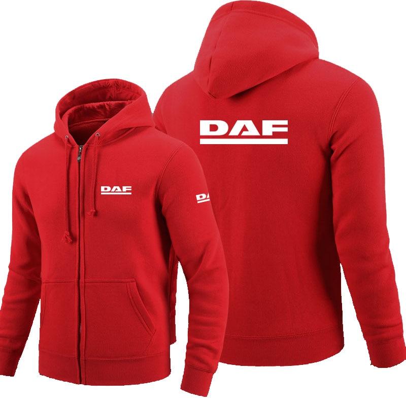 DAF logo zipper sudadera de hombre con cremallera Hoodies otoño Hoodie invierno largo moda Casual ropa