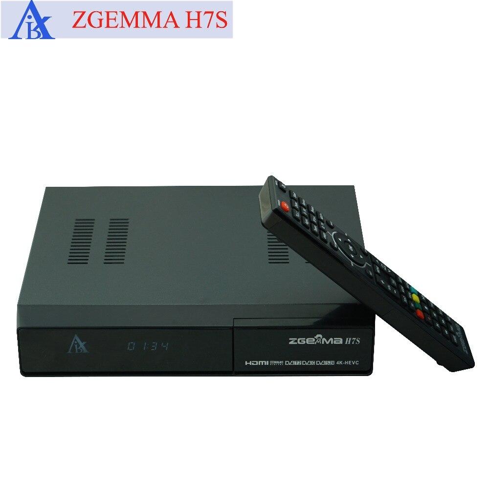 5 шт./лот zgemma h7s 4k ultra receiver twin dvb s2x/s2 + dvb t2 & dvb c поддержка мультипотока и ci plus