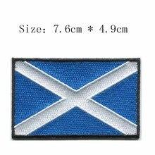 """Bordado de hierro de Escocia parches de bandera logos 3 """"pegatina ancha en la ropa/parches fútbol/parche del país"""