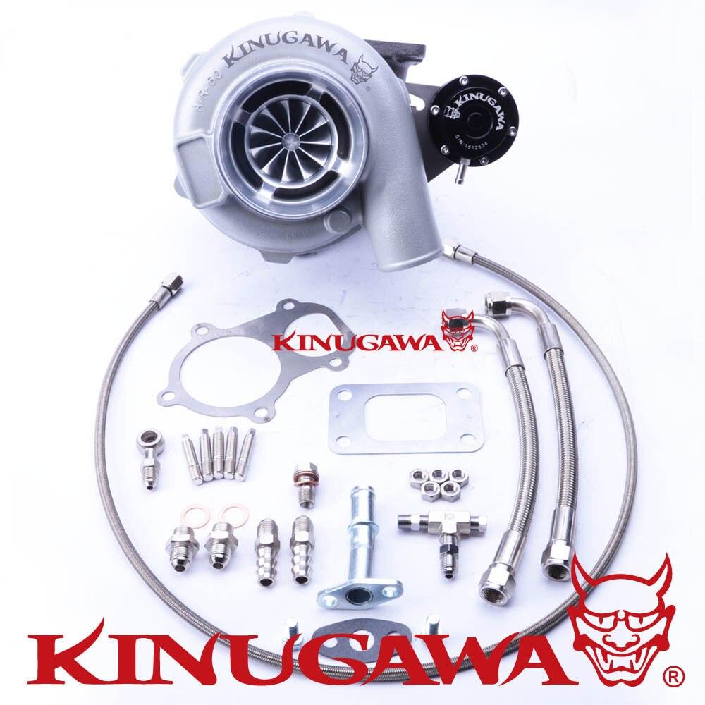 "Kinugawa Turbocompressor Rolamento de esferas 4 ""Anti-Surge GTX3071R AR.82 T3 5 Parafuso Interno"