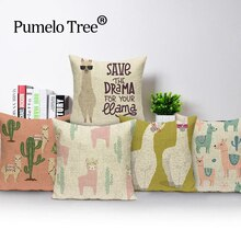 Custom Alpaca Pillow Cover 45*45 cm Cushion Covers Lovely llama Throw Pillows Printed Cushions Cover Home Decoration Pillowcase