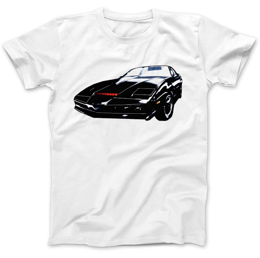 100% algodão de Manga Curta Kit KITT Inspirado Michael Knight T camisa T-Shirt 100% Algodão Premium