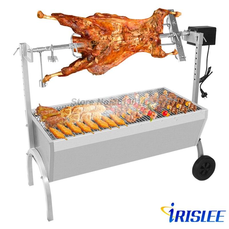 De acero inoxidable escupir tostador comercial cerdo asado de barbacoa escupir pollo asador de cerdos Asador
