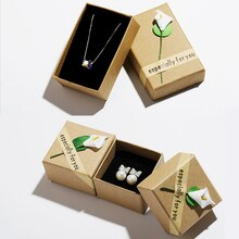 Fashion High Quality 3 Size Retro Jewelry Box Storage Case Flower Bracelet Ring Kraft Paper Letter brown cardboard handmade soap