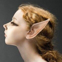 Misterioso anjo elfo orelhas halloween traje adereços cosplay acessórios látex prótese orelhas falsas fontes de festa 1 par quente