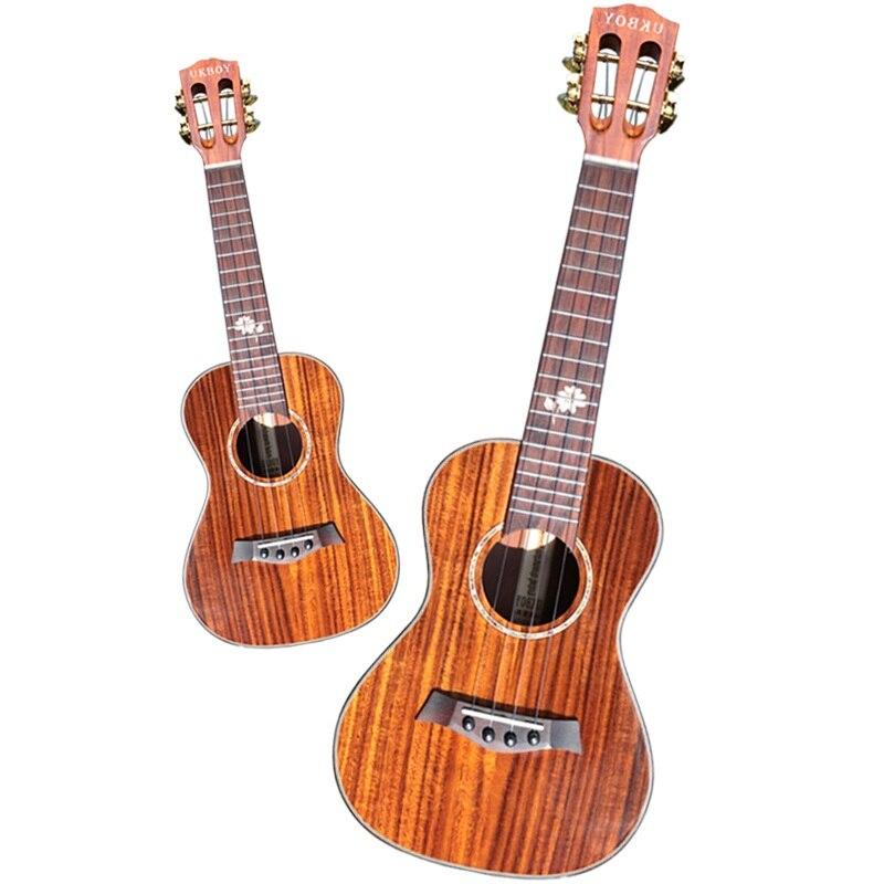 Ukelele de Acacia mangium de 23 pulgadas con parte superior de madera para guitarra hawaiana pequeña de 23 pulgadas, cuerdas para guitarra clásica, cabezal de afinación