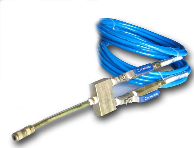 تطبيق إصلاح المنزل للعناصر المزدوجة 2 خراطيم وصمامين حقن ، وفوهة واحدة جاهزة