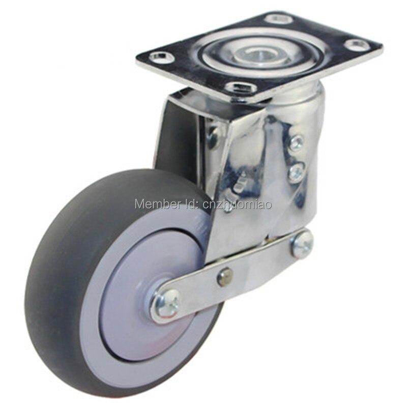 Rueda universal de amortiguación silenciosa de 4 Uds 5 pulgadas con resorte, rueda antisísmica TPR, para equipos pesados, puerta