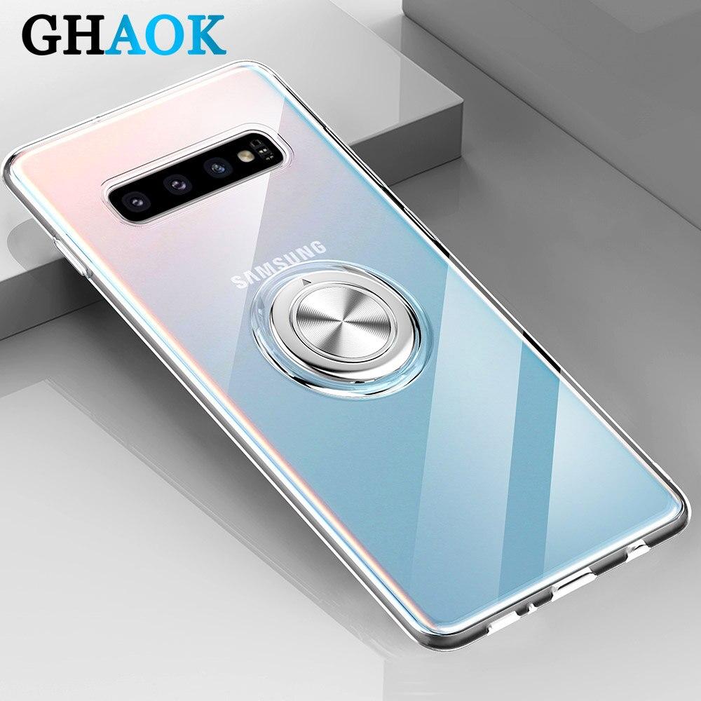 Funda de teléfono magnética transparente para Samsung Galaxy S10 5G S9 S8 Plus S20 Note 9 8 A9 2018 M20 M30 funda suave de TPU adsorción