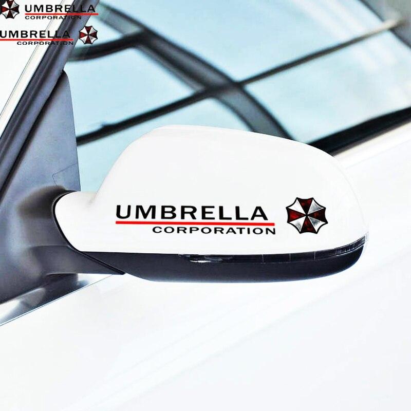 Etie 2 X Umbrella Corporation отражающее зеркало заднего вида Наклейка для автомобиля аксессуары для Toyota Chevrolet Volkswagen Honda