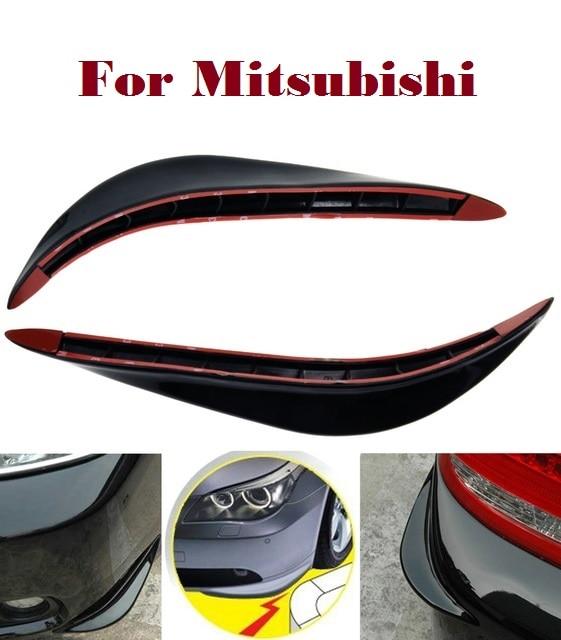 2 uds, tiras de parachoques jackknifed de PVC para coches, arañazos para Mitsubishi Galant i-miev Lancer, evolución de carga, Ralliart Minica