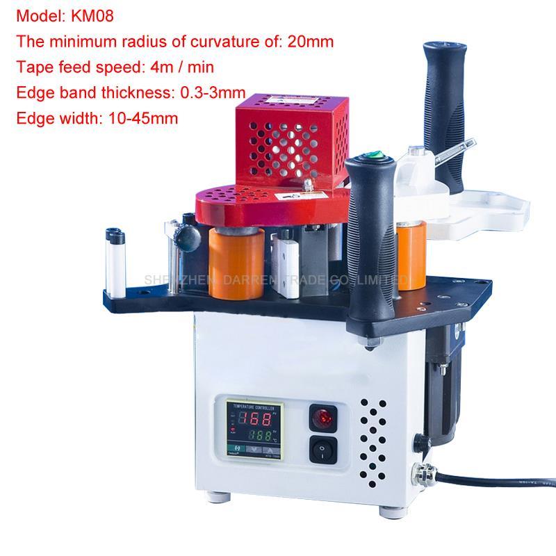 110V/220V Popular Edge Banding Machine Single Unit Manual Edge Bander with Edge Thickness 0.3~3mm KM08