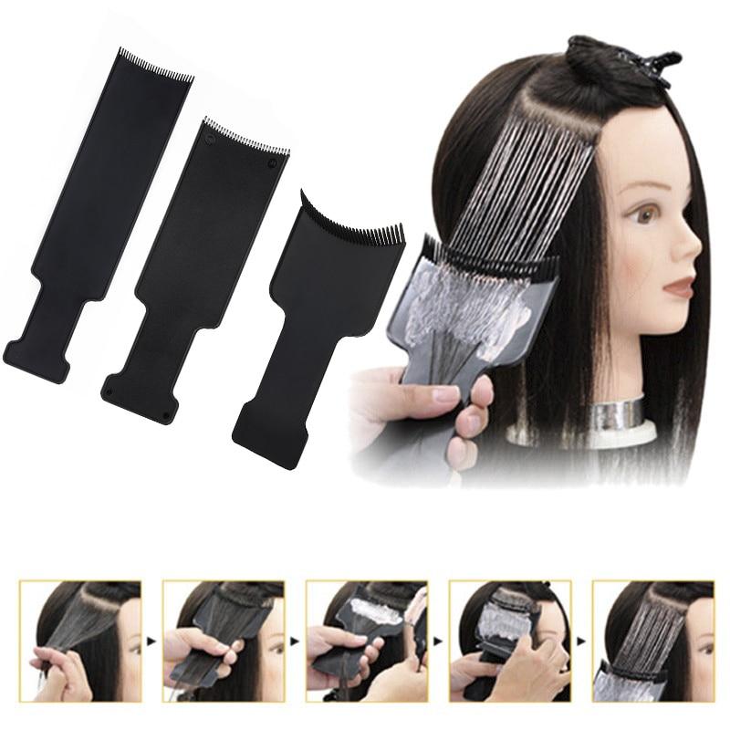 Cepillo aplicador de cabello para dispensar coloración del cabello en salón tablero de colores para teñir Herramienta de Peinado de moda profesional