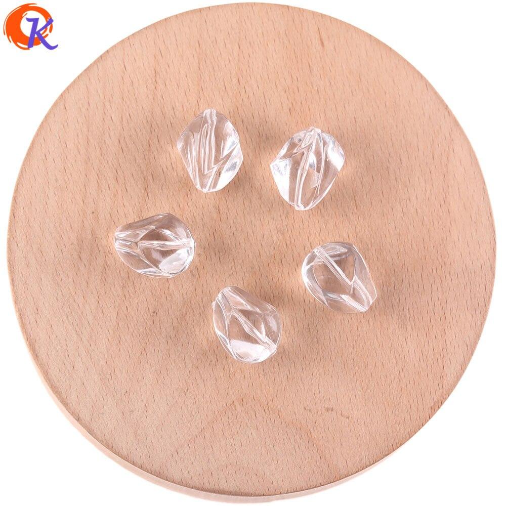 Design cordial 12x17mm 330 pces acessórios de jóias/grânulos acrílicos/forma de pedra/grânulo claro/diy fazendo/feito à mão/brinco descobertas