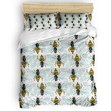 Housse de couette 3D coton abeille miel   Housse de couette taille roi, ensemble housse de couette taille roi, ensembles de literie simples