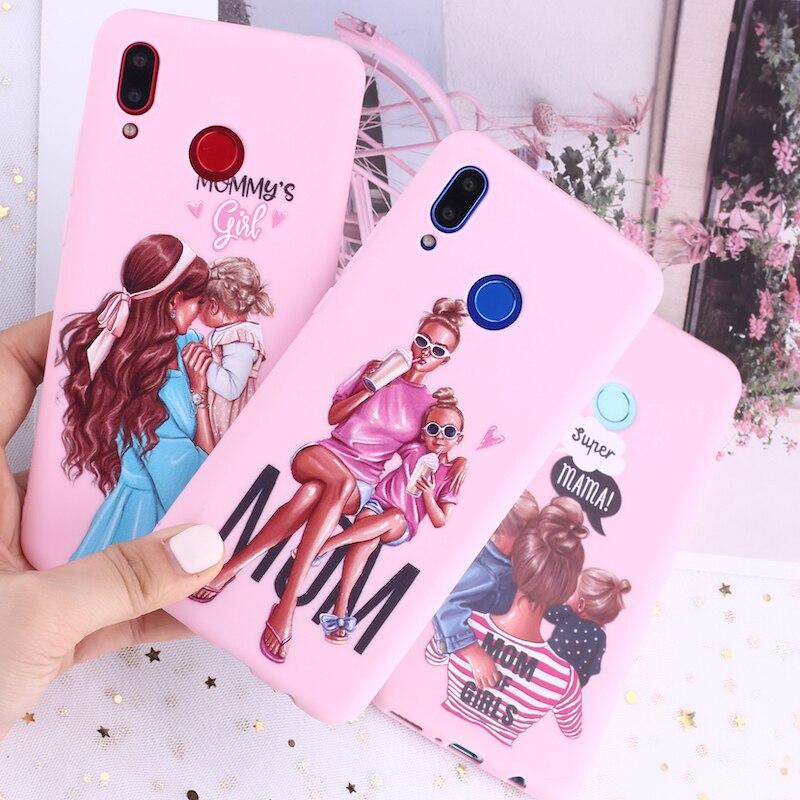For Xiaomi Mi Redmi Note 5 6 7 8 9 10 lite Pro Plus Princess Mom Dad Baby Candy Silicone Phone Case