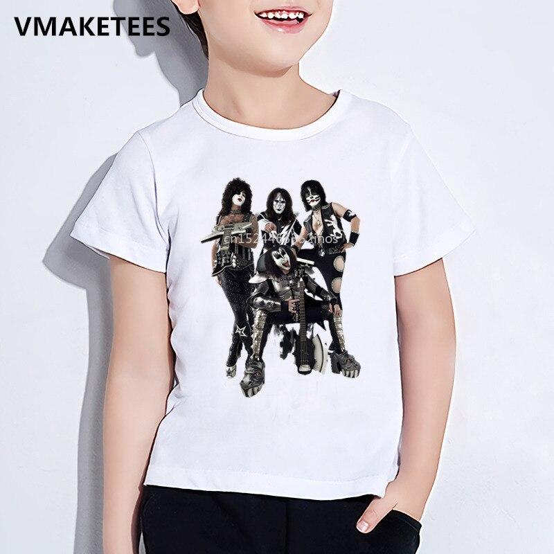 Kinder Sommer Mädchen & Jungen Lustige T-shirt Kinder Stormtroopers Fan Kuss Rock Band Druck T-shirt Mode Lässig Baby Kleidung, ooo464