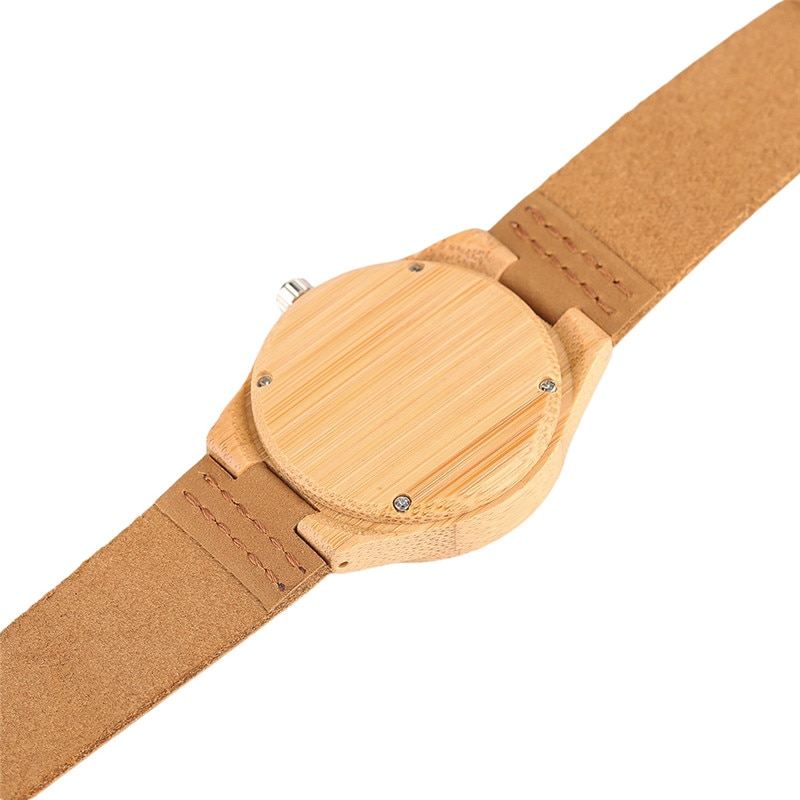 Nature Bangle Wood Wrist Watch Women Simple Bamboo Wooden Quartz Watches Ladies Dress Elegant Hand Around Wood Clock Gift enlarge