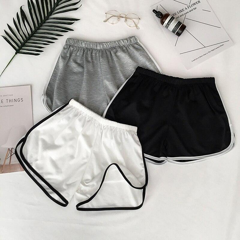 Nuevo verano de la calle deporte Yoga Mujer Pantalones cortos Shorts fitness de correr de playa suave Casual blanco compartimentos de cortos de mujer