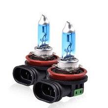 2 шт. H11 100 Вт супер белая лампа H11 100 Вт/55 Вт Противотуманные фары высокой мощности лампа фары автомобиля источник света для парковки авто 6000 К 12 В
