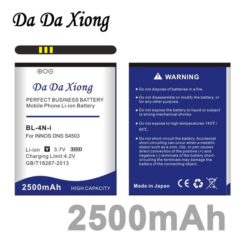 Da Da Xiong 2500mAh BL-4N-i baterii dla innosa DNS S4503Q S4503 innosa mała ważka i6c i6 baterii