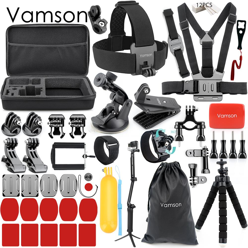 إكسسوارات فامسون لكاميرا جوبرو, Vamson Accessories for Gopro Hero 7 6 5 4 مجموعة حزام معصم محول floati Bobber لشاومي Yi 4K Camera VS163