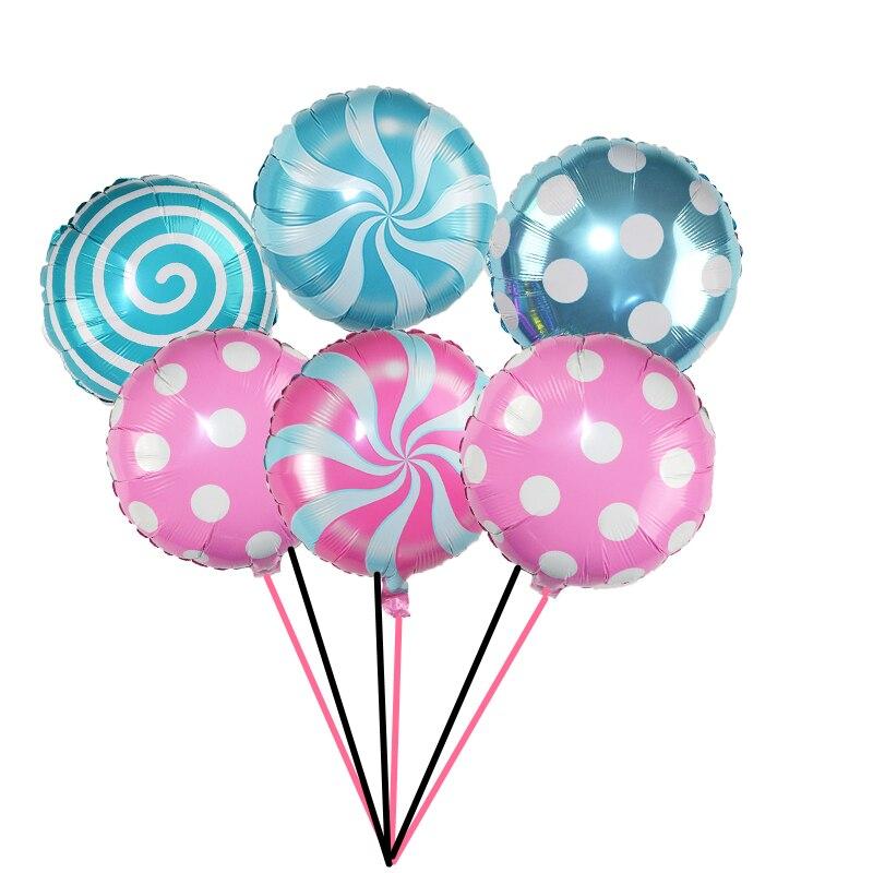 3 шт 18 дюймов леденец фольги воздушный шар конфеты мельница точка Алюминиевые шарики для свадьбы детский душ товары для дня рождения Детские игрушки