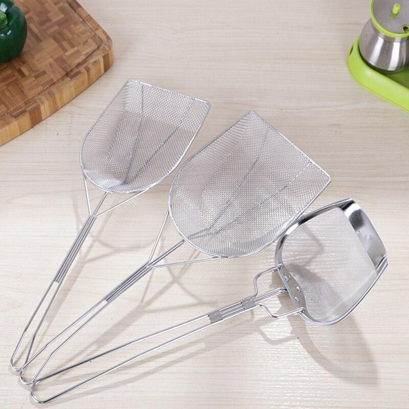Edelstahl sieb sieb mit griff Mesh Öl Sieb Filter Sichter Sieb Netto braten löffel Kochgeschirr Küche Werkzeuge