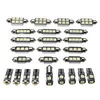 25pcs White LED Lights Bulbs DC 12V Car Interior LED Light Set Super Bright Car Interior Kit for BMW X5 E70 M 2007-2013 2019 New