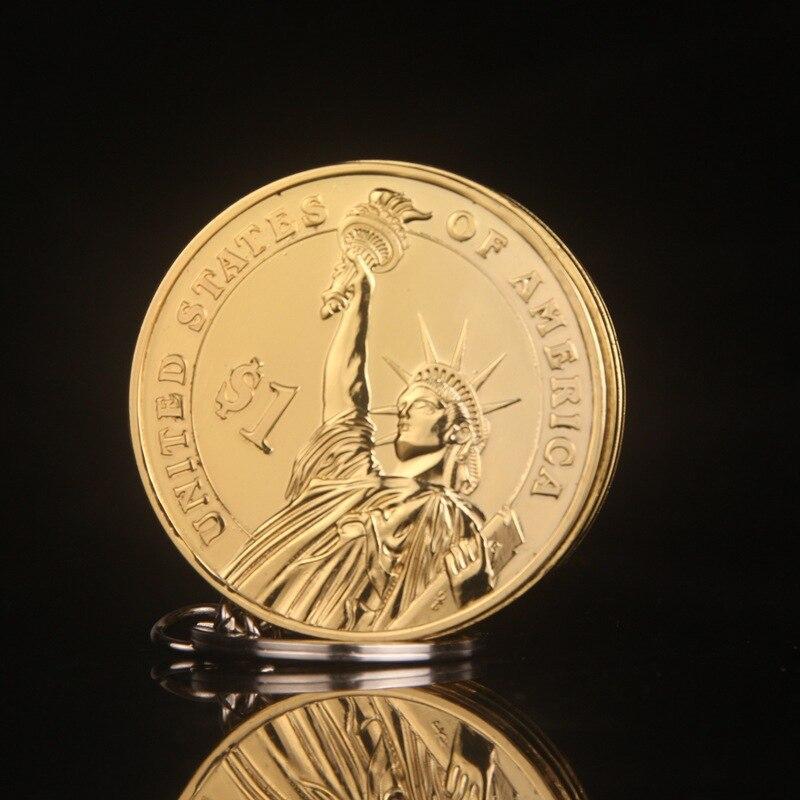 Креативный компактный бутан зажигалка брелок Зажигалка надутый Газ Jet масло кулон монета один доллар металлический подарок брелок