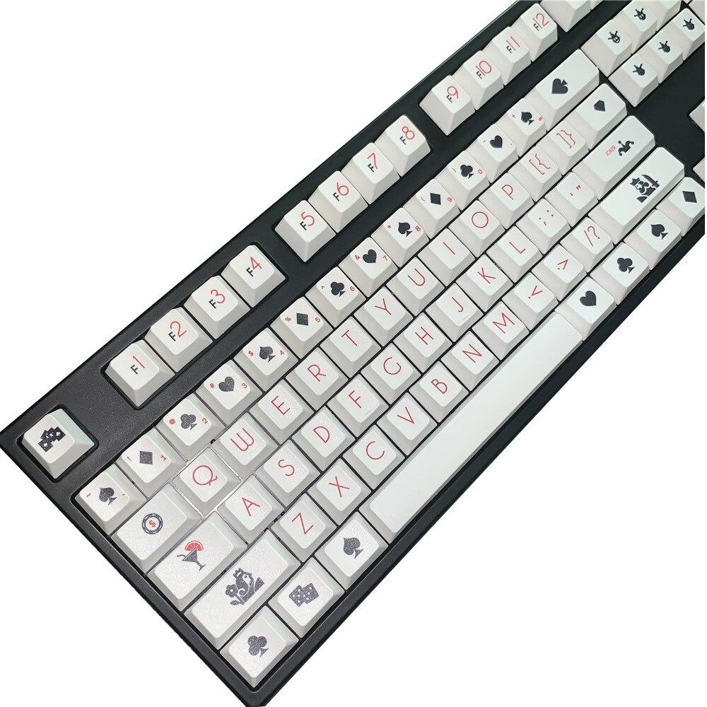 1 مجموعة 104 مفاتيح قياسية تخطيط بوكر PBT صبغ التسامي مفتاح قبعات الكرز الشخصي الميكانيكية لوحة المفاتيح غرار Keycap 6.25X الفضاء