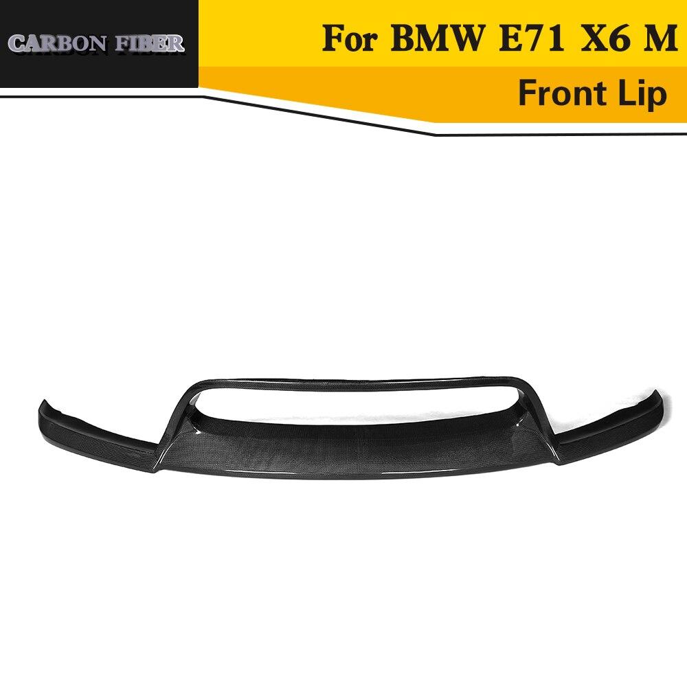 Perfil de alerón delantero de fibra de carbono para BMW E71 X6 M parachoques 2010-2014