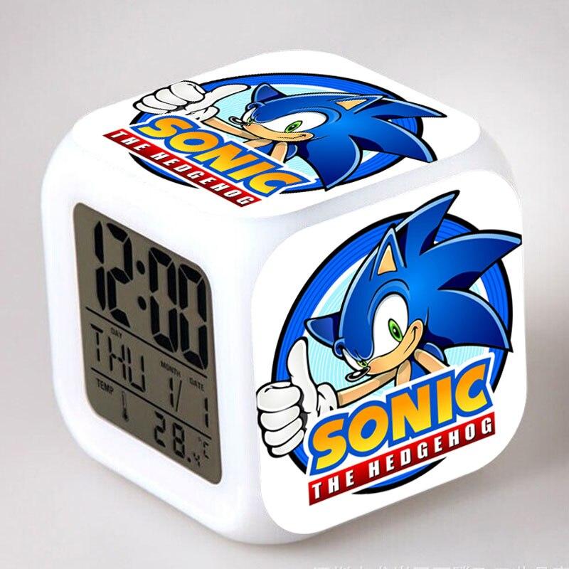 Sonic the Hedgehog LED Wecker Tails Miles Prower Uhr reloj despertador Digitale Uhren Dr. Robotnik horloge digitale Saat