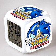 Цифровые часы Sonic the Hedgehog, светодиодные часы-Будильники с хвостом, цифровые часы Dr.Robotnik horloge digitale Saat