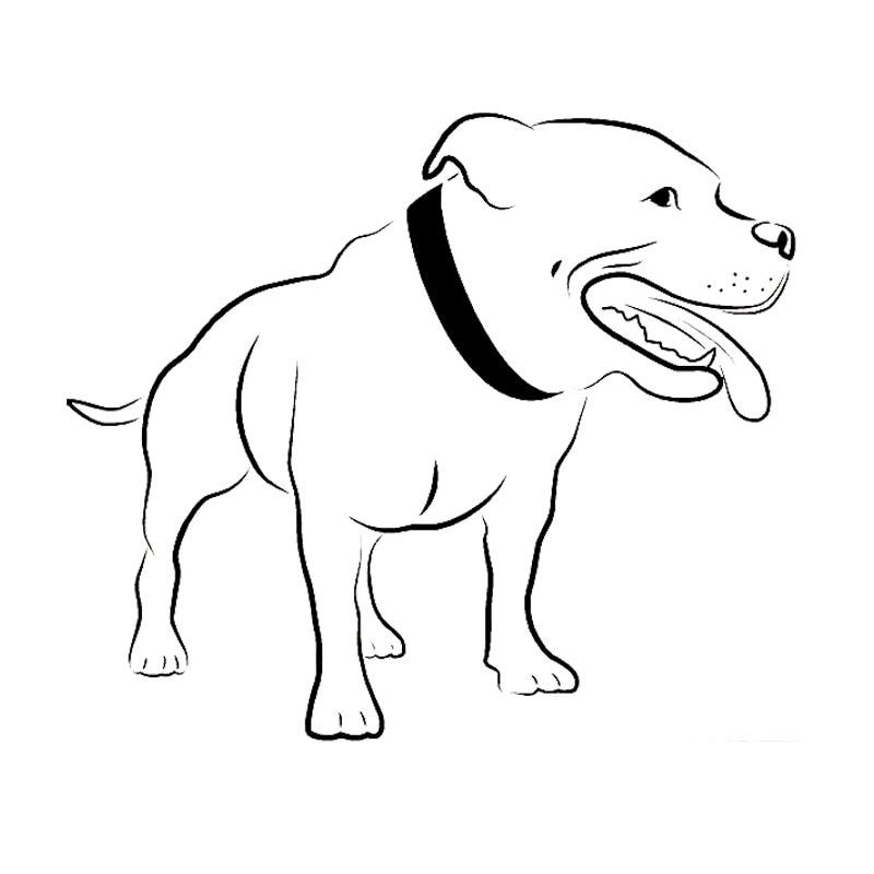 17*14.5CM Staffordshire Bull Terrier köpek araba çıkartmaları sevimli vinil çıkartması araba Styling kamyon dekorasyon siyah/gümüş s1-0944