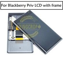 100% Original para pantalla LCD de BlackBerry Priv, montaje de digitalizador con pantalla táctil con piezas de repuesto de marco, envío gratis
