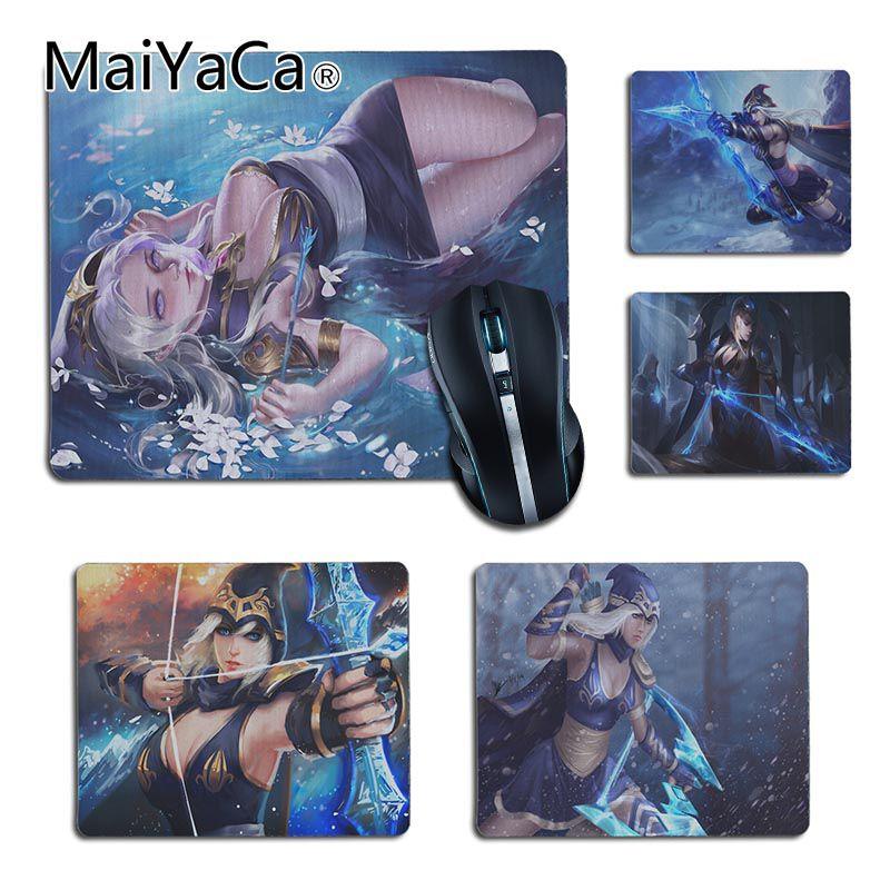 Lol league of legends Ashe MaiYaCa Novo Design meninas Escritório Ratos Gaming mouse Pad Mouse Pad de Borracha Top Vendendo Por Atacado almofada de mesa