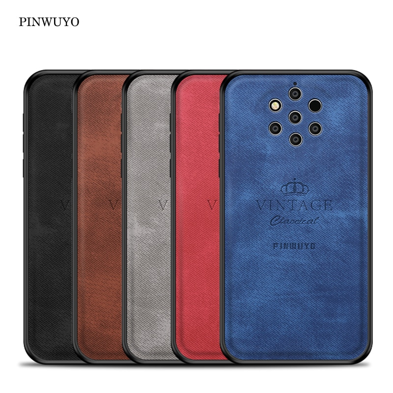 Para Nokia 9 PureView funda Vintage Pu cuero PC fundas ajustadas para Nokia 9 PureView funda protectora