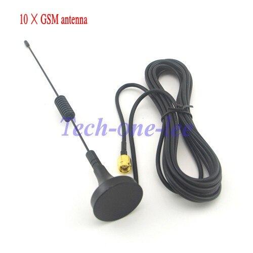 10 unid/lote GPRS GSM antena 900-1800Mhz 3dbi 3M cable SMA Base magnética macho Control remoto