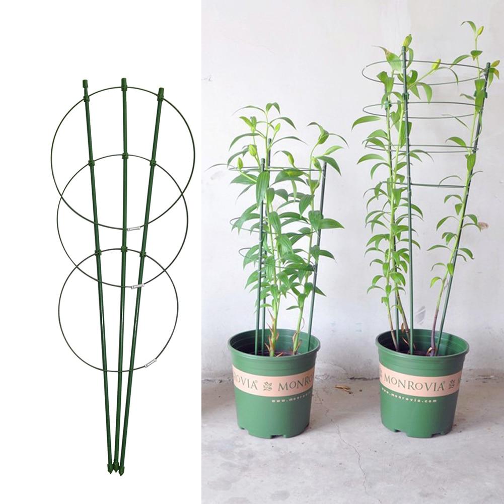 45cm / 60cm laipiojimo vynuogynų stovo augalų vazoninis rėmas plastiku dengtas plieninis gėlių daržovių dekoratyvinis grotelių laikiklis 1vnt