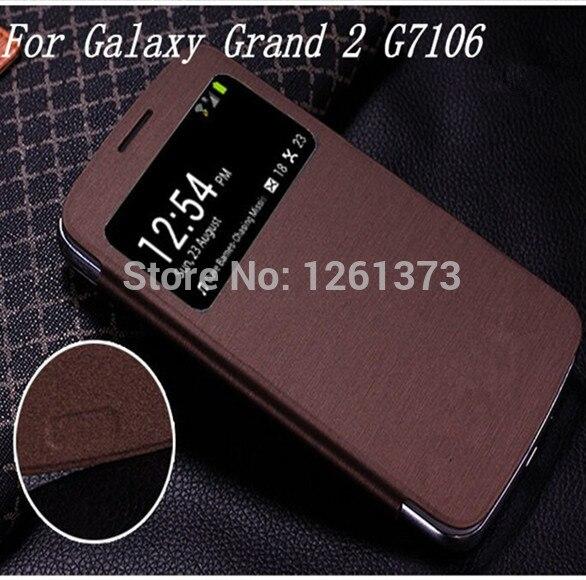 Smart View Window Flip Cover Funda para Samsung Galaxy Grand 2 Dous G7102 G7106 G7108 G7109